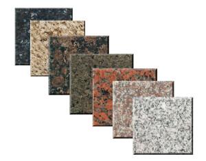 Different types of granite