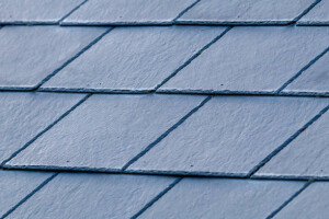 A Pattern of Grey Slates on a Roof